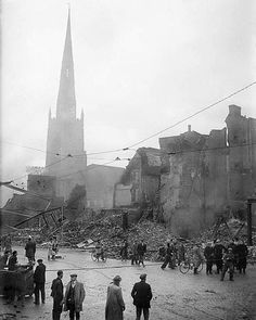 The aftermath of the Coventry Blitz