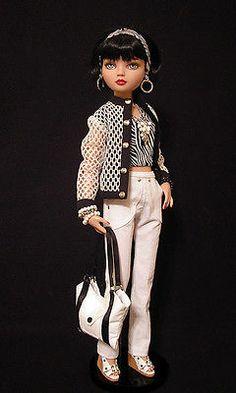 Ellowyne, OOAK Fashion: Jacket, Pants, Top, Headband, Totebag and Jewelry set by WS  | jkinmcd via eBay SOLD 3/21/14  for $44.99