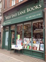 Balancing the books. West End Lane Books, West Hampstead, London