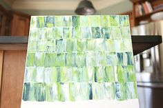 Palette Knife Art - Katie Bower has a pretty good explanation for how to create. Wouldn't cost very much for a piece of art with a big impact.