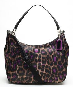 This Violet Signature Ocelot Print Convertible Hobo by Coach is perfect, $199 !!   #zulilyfinds