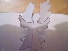 Новогодняя открытка Всплывающий ангел