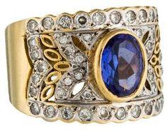Le Vian 18K Tanzanite & Diamond Encore Cocktail Ring