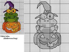 Halloween frog x-stitch pattern by Astraan.deviantart.com on @DeviantArt