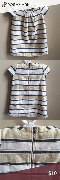 GAP Dress 4T GAP Dress 4T. Gold white and black stripe. Zipper back. Excellent used condition. Worn twice! From a non-smoking and pet free home. GAP Dresses