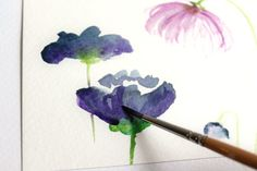 How to Create Watercolor Flowers | The Postman's Knock                                                                                                                                                      More