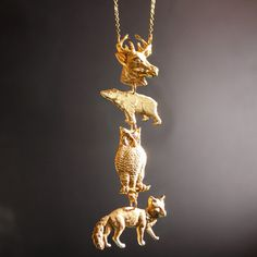 Spiritual Animal Necklace by Christine Domanic Jewelry