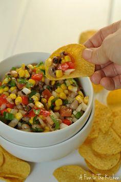 Texas Caviar super bowl party ready