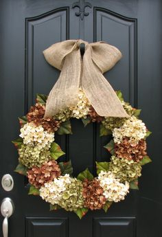 XL+Fall+Wreaths+Hydrangea+Wreaths+for+Fall+Burlap+by+twoinspireyou,+$140.00