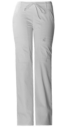 Cherokee Low Rise Flare Leg Drawstring Cargo Pant (Petite) in White from Cherokee Scrubs at Cherokee 4 Less Healthcare Uniforms, Scrubs Uniform, Cherokee Scrubs, Lab Coats, Hijab Casual, Sports Uniforms, Drawstring Pants, Cargo Pants, Sweatpants