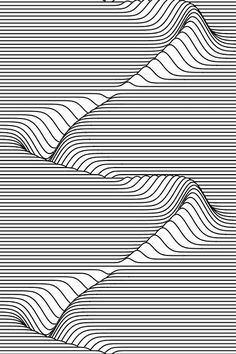 of Zentangle Project intothecontinuum: Mathematica code: S[n_, t_] := + t]ListAnimate[ Show[ Table[ Plot[ 100 - n + + - {x, PlotStyle - Directive[Black, Thick], PlotRange - Fillin Op Art, Illusion Kunst, Zentangle Patterns, Zentangles, Doodle Patterns, Doodle Borders, Art Graphique, Optical Illusions, Optical Illusion Art