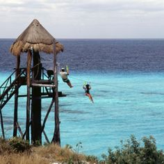 Isla Mujeres Mexico! I did that when we were there.....kinda scary!!