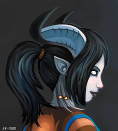 Draenei Portrait by ~Nefarei on deviantART