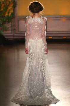 Sinclair - Wedding Dress by Claire Pettibone runway back