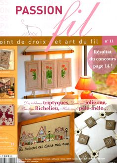 Gallery.ru / Фото #1 - Passion fil #11 - simplehard Cross Stitch Freebies, Cross Stitch Books, Magazine Cross, Art Du Fil, Applique Fabric, Book Crafts, Craft Books, Cross Stitch Embroidery, Fabric Crafts