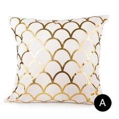 Gold print matelic cotton Pillowcase cushion for home Decorative, sofa ,chair Decorative Cushion Home Decor throw Pink Pillow Cases, Throw Pillow Cases, Pillow Covers, Cushion Covers, Pillow Inserts, Gold Throw Pillows, Pink Pillows, Accent Pillows, Art Deco Bedroom