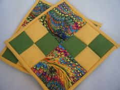 Colorful With Yellow and Green Quilted by KraftyGrannysHome, $15.50