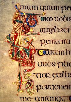 Columba, Illuminated manuscript, Insular illumination, Ireland, Medieval art, The Book of Kells, The Secret of Kells, Tomm Moore