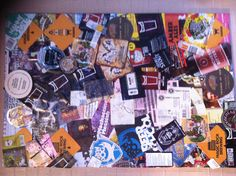 My own beer board with a montage of beer labels, mats and flyers. Work in progress and will be added to over time.  (29.03.2013)