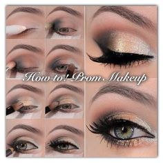 Check out how to, this amazing prom makeup with #GlamourIcons!   Easy with perfection eyeshadow and eyeliner for your fairytale prom night !   Like and comment on our Facebook page!   REF: #Howto #Prom2015 #Lovedbeautyl  Glamouricons1.wordpress.com