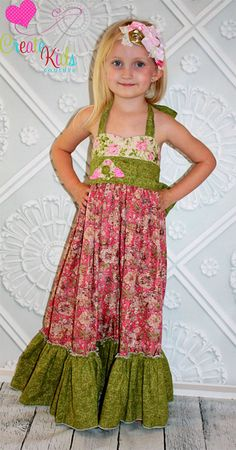 Peony's heart shaped bodice Maxi dress new pattern from Create Kids Couture!