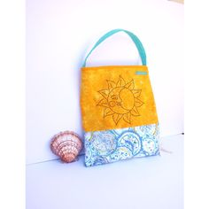tote bag, tote, yellow cotton bag cotton tote bag, large day... ($36) ❤ liked on Polyvore featuring bags, handbags, tote bags, summer totes, blue tote, summer tote bags, floral tote and floral tote bag