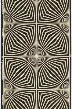 Wallpaper Razzmatazz, 1967. Flocked on machine-made paper.USA. Via Cooper Hewitt.