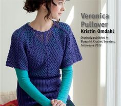 Veronica Crocheted Pullover, As Seen on Knitting Daily TV Episode 1111 - Media - Crochet Me  --http://www.crochetme.com/media/p/149991.aspx