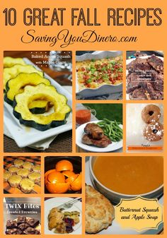 It's time to start thinking about Fall Recipes! Check out this list of 10 of our favorites!