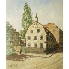 F. LINDSTRÖM; Hörnet av Mosebacke torg