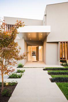 Warm minimalism landscape design in Caulfield