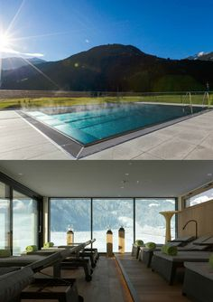 The rooms of the Sportresidenz Zillertal with a view of the Zillertal mountains and the Hochzillertal ski region Austria, Skiing, Golf Courses, Relax, Boutique, Outdoor Decor, Sports, Home, Ski
