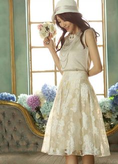 White Color All-match Woman Yarn Pleated Shivering Sexy TuTu Dress Ou Gensha Knee Length Skirt -- BuyinCoins.com