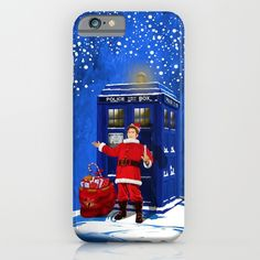 10th Doctor who Santa claus IPHONE & IPOD CASE #iphone #Case #CellPhone #hardcase #cover #digital #drawing #acrylic #comic #cartoon #illustration #christmas #newyear #tardisdoctorwho #doctorwho #tardis #timelord #badwolf #drwho #timetravel #scifi