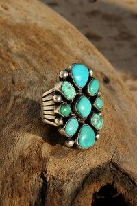 Carico Lake Turquoise Chunky Sterling Silver Ring