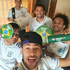 Neymar, Dani Alves, Marcelo, Fred Thiago Silva