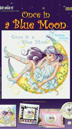 Fata della luna punto croce  Fairy Moon cross stitch