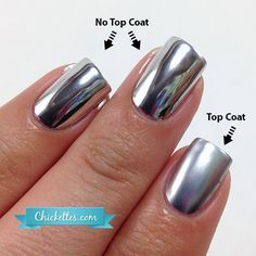 Mia Secret Chrome Mirror Nail Liquid Look In Comments For Instructions On How To Use