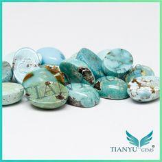 Оптовая продажа кабошон овальным вырезом полудрагоценный камень природные бирюзовый камень