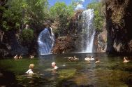 Swimming at Florence Falls, Litchfield National Park