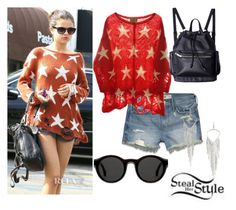 """""""Selena Gomez steal her style"""" by official-outfits ❤ liked on Polyvore featuring Wildfox, Hollister Co., 14th & Union and Mykita"""