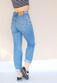 Retro++Stonewash+Levi's+Jeans