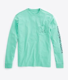 15b73234 Vineyard Vines Long Sleeve Vintage Graphic T-Shirt- Grenada Green from Shop  Southern Roots TX
