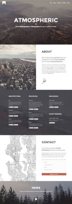 Atmospheric - Aerial Photography and Videography Services - Webdesign inspiration www.niceoneilike.com