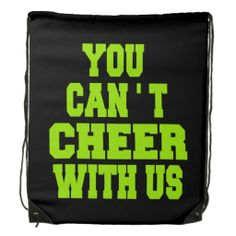 Cheerleading drawstring backpack lightweight great for water bottles and carrying your practice gear.  #cheer #backpacks #gifts #cheerleading #bags #gymbags