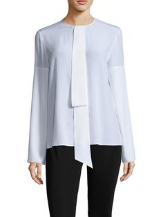 Givenchy Silk Overlay Front Blouse