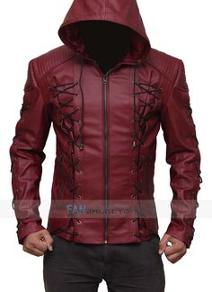 online shopping for Mens Hooded Leather Jacket - Red Costume Jacket Men from top store. See new offer for Mens Hooded Leather Jacket - Red Costume Jacket Men Leather Jacket With Hood, Faux Leather Jackets, Leather Men, Cowhide Leather, Lambskin Leather, Real Leather, Custom Leather, Moda Geek, Mode Man