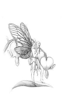 Bleeding Heart Flower Drawing | Bleeding Heart Flower by ...