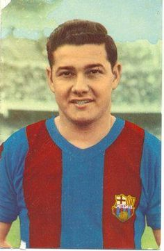 """""""Kokito"""" Eulogio Martínez (11 June 1935 - 30 September 1984), Paraguayan-Spanish striker, nicknamed """"El Abrelatas"""" means """"The Can Opener"""", FC Barcelona (1956-1962). He is remembered for being a prolific striker with an excellent finishing ability. Martínez also became part of FC Barcelona's history by scoring the first goal ever at their current stadium, Camp Nou, in 24 September 1957. The goal was scored in the 11th minute, in a friendly match celebrating the inauguration of the stadium…"""