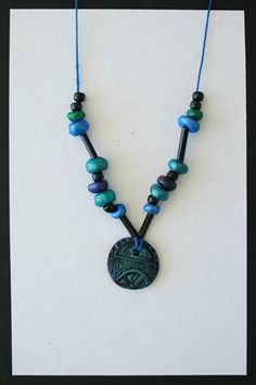 Clay bead necklaces